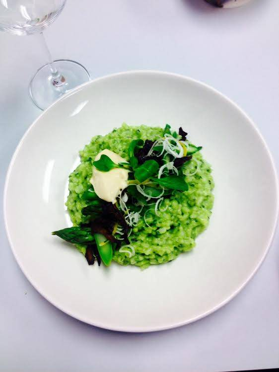 Boarding House green garlic risotto