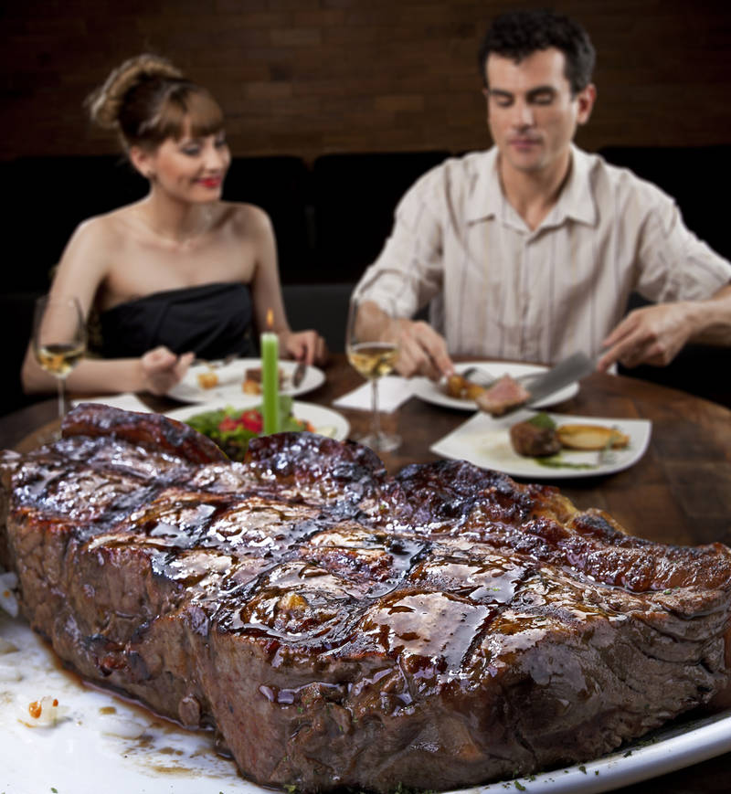 Steakhouses Specialize in Massive Meat