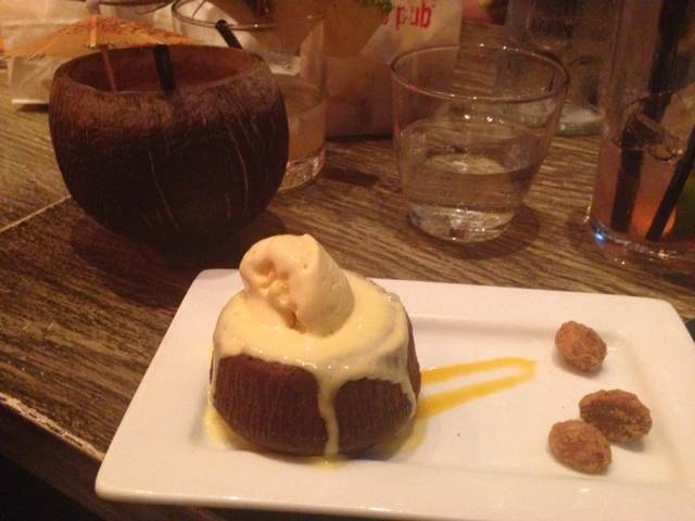 Sweet of the Week: Chocolate Lava Cake With Passion Fruit Ice Cream at Tokio Pub