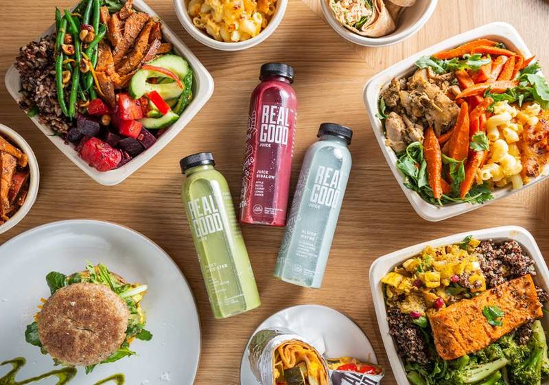 Real Good River North features a hot bar, grab-and-go items, a matcha bar and more.