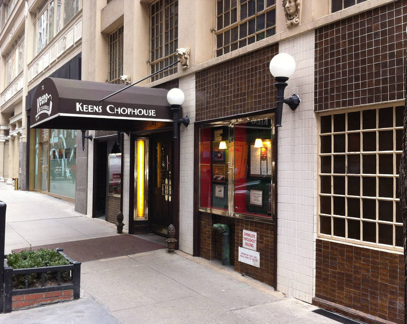 Keens Steakhouse in New York City