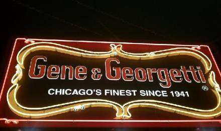 Gene and Georgetti  steakhouse chicago