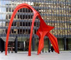 Calder Flamingo Sculpture