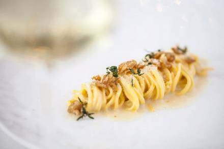 Spiaggia best comfort food chicago; Fettucine alfredo (Galdones Photography)