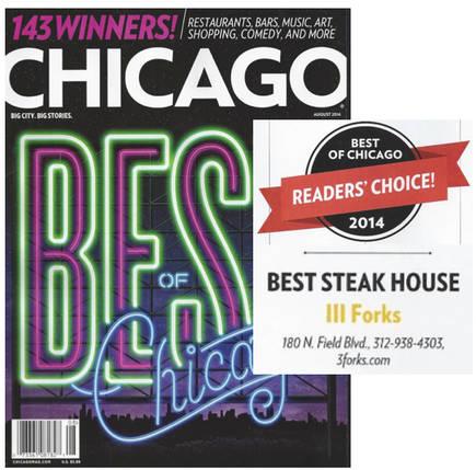 III Forks - 111Forks- 3Forks best steaks in chicago