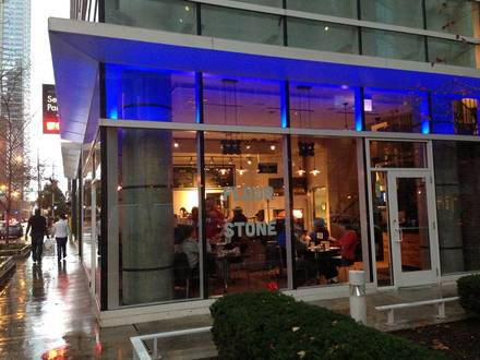 Flour & Stone Chicago pizza;