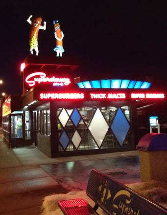 Superdawg Drive-In Best Hot Dog in Chicago;