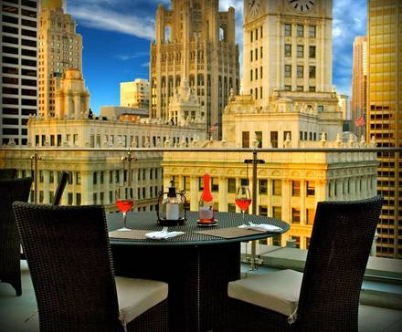 The Terrace at Trump best greek in chicago;