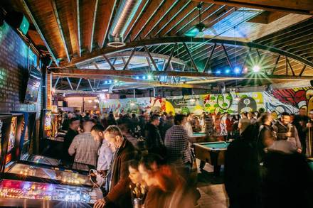 Emporium Arcade Bar - Logan Square best chicago rooftop restaurants;