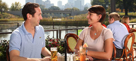 The Patio at Café Brauer best chicago rooftop restaurants;