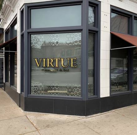 Virtue Restaurant & Bar best chicago rooftop restaurants;