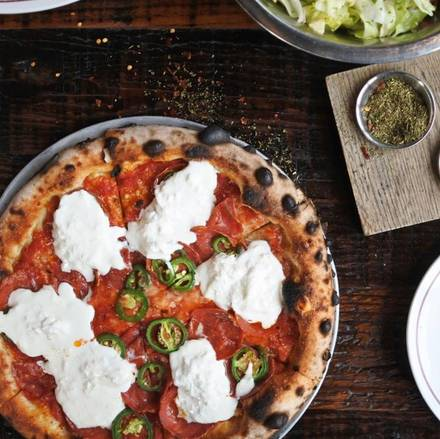 Parlor Pizza Bar best chicago rooftop restaurants;