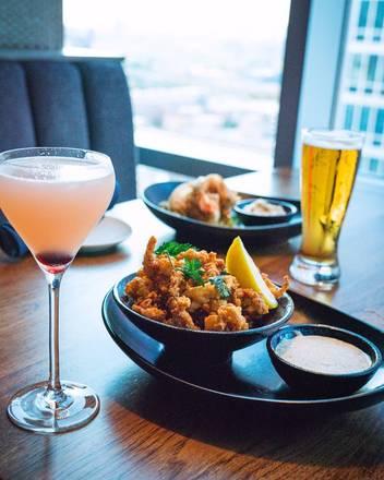VU Rooftop Bar best fried chicken in chicago;