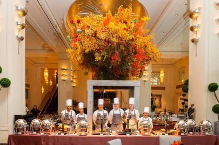 Lobby at the Peninsula Chicago best italian restaurant in chicago;