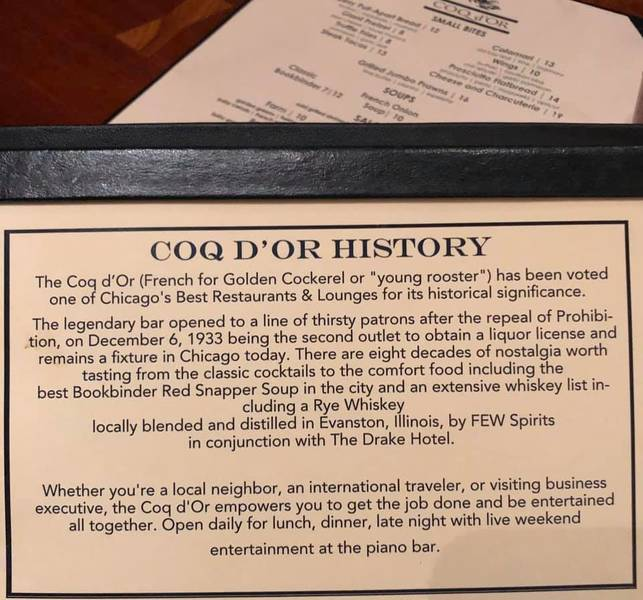 Coq d'Or, The Drake Hotel