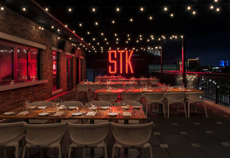 STK STEAKHOUSE ORLANDO, where guests arrive dressed to impress